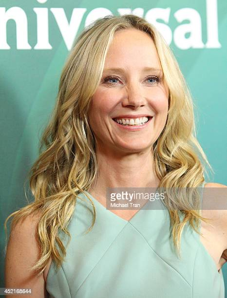Anne Heche arrives at the 2014 Television Critics Association Summer Press Tour - NBCUniversal - Day 2 held at The Beverly Hilton Hotel on July 14,...
