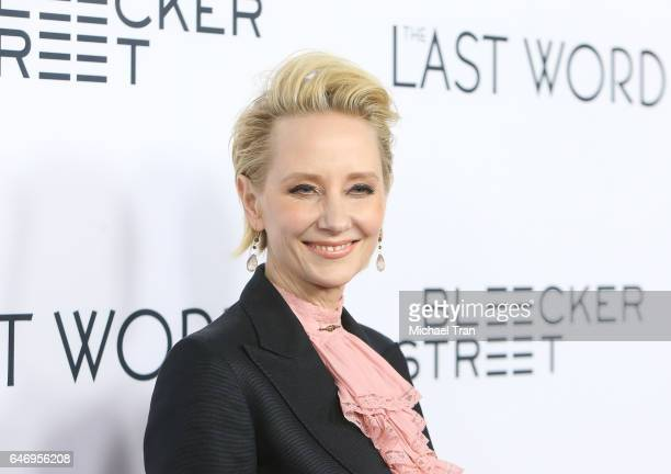 Anne Heche arrives at the Los Angeles premiere of The Last Word held at ArcLight Hollywood on March 1 2017 in Hollywood California