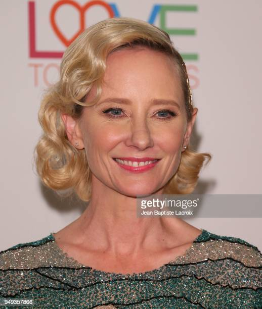 Anne Heche attends the 25th Annual Race To Erase MS Gala at The Beverly Hilton Hotel on April 20 2018 in Beverly Hills California