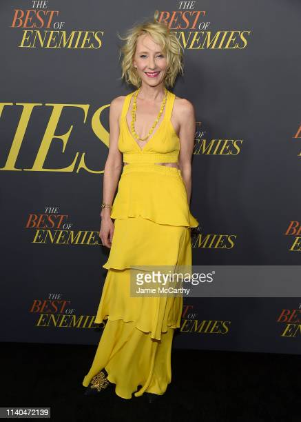 Anne Heche attends The Best Of Enemies New York Premiere at AMC Loews Lincoln Square on April 04 2019 in New York City