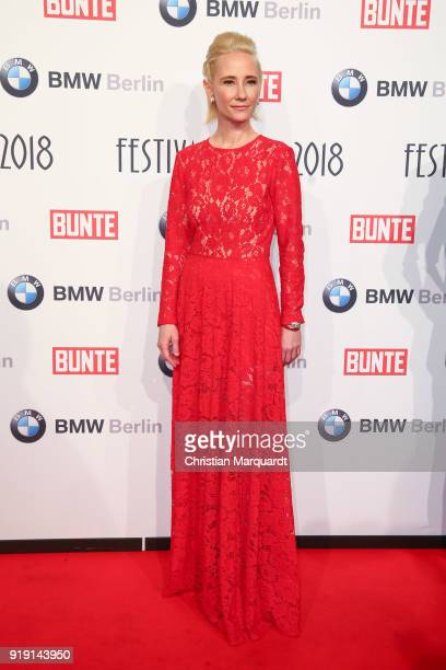 Anne Heche attends the BUNTE BMW Festival Night on the occasion of the 68th Berlinale International Film Festival Berlin at Restaurant Gendarmerie on...