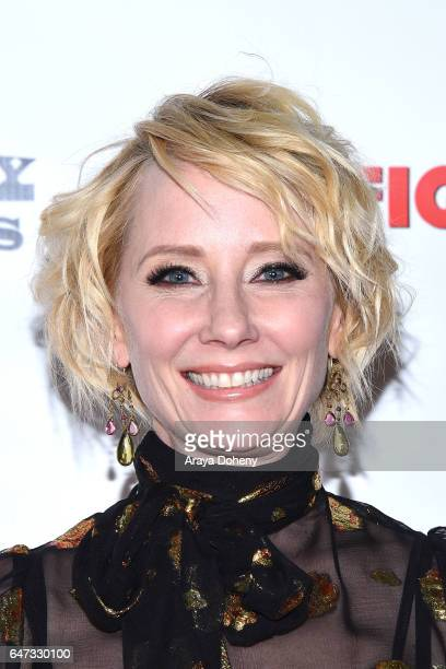 Anne Heche attends the premiere of Dark Sky Films' 'Catfight' at Cinefamily on March 2 2017 in Los Angeles California