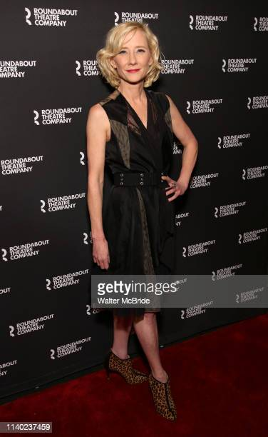 Anne Heche attends the Roundabout Theatre Company OneNight Only Benefit Reading Cast Reception for Twentieth Century at Studio 54 on April 29 2019 in...