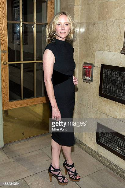 Anne Heche attends the Zac Posen Spring 2016 fashion show during New York Fashion Week at Vanderbilt Hall at Grand Central Terminal on September 14...