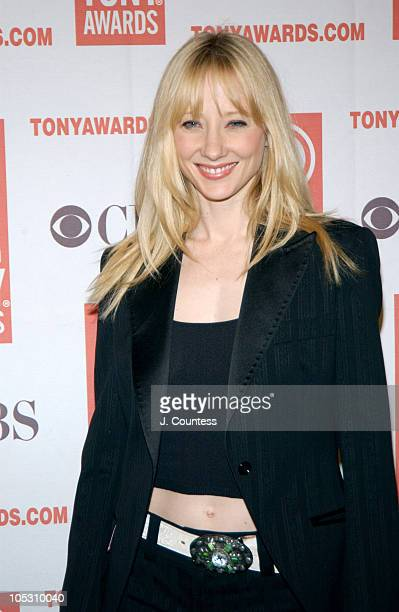Anne Heche during 2004 Tony Nominees Press Reception at Millennium Broadway Hotel in New York City New York United States