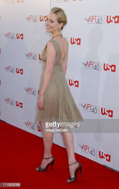 Anne Heche during Al Pacino Honored with 35th Annual AFI Life Achievement Award Arrivals at Kodak Theater in Hollywood California United States