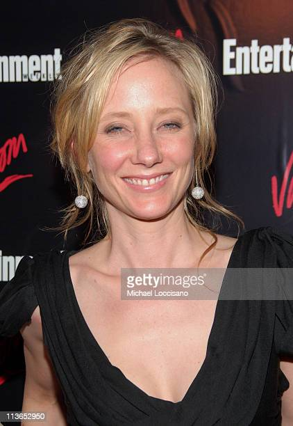 Anne Heche during Entertainment Weekly 2007 Upfront Party Red Carpet at The Box in New York City New York United States