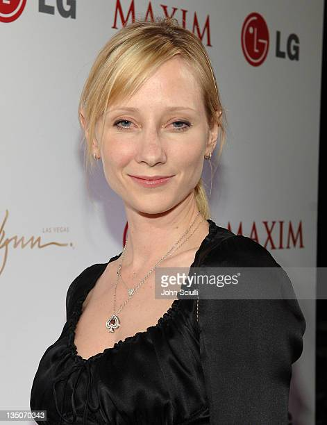 Anne Heche during Maxim 100th Issue Weekend Poker Tournament in Las Vegas Nevada United States