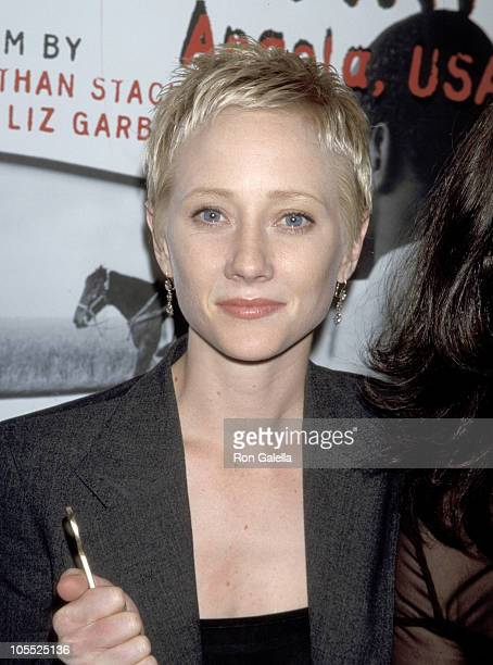 Anne Heche during The Farm New York City Premiere at Film Forum in New York City New York United States