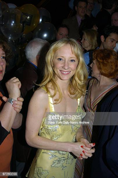 Anne Heche is on hand at the Minskoff Theater for the Tony Awards nominees' annual Class Photo The event normally takes place outdoors in Times...