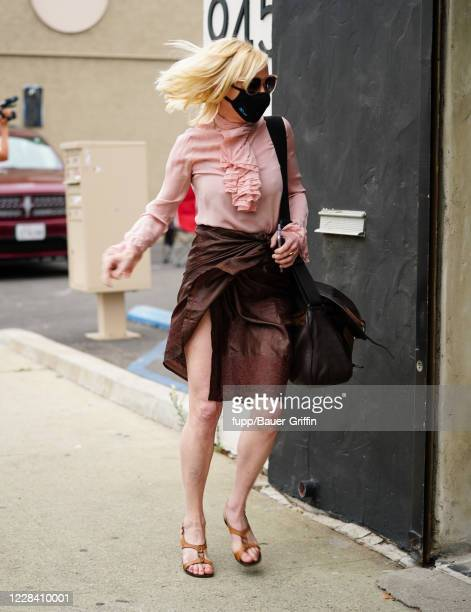 Anne Heche is seen arriving for Dancing With The Stars Season 29 rehearsals on September 08 2020 in Los Angeles California