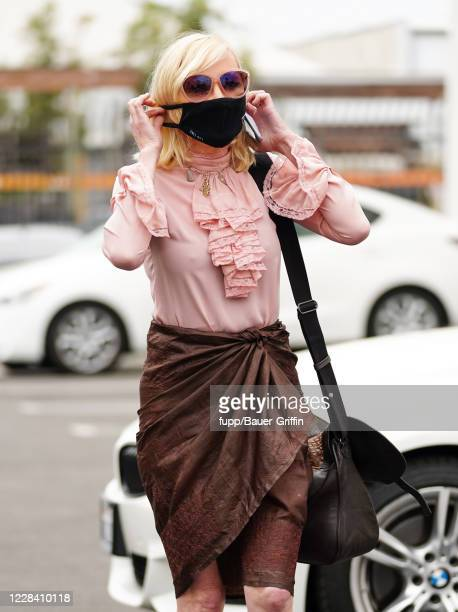 Anne Heche is seen arriving for Dancing With The Stars Season 29 practice on September 08 2020 in Los Angeles California