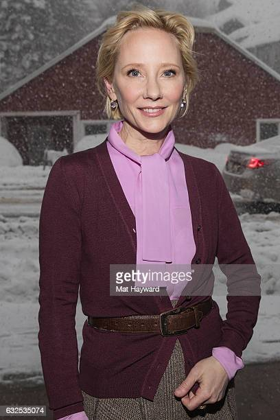 Anne Heche poses for a photo during the Sundance Film Festival on January 23 2017 in Park City Utah