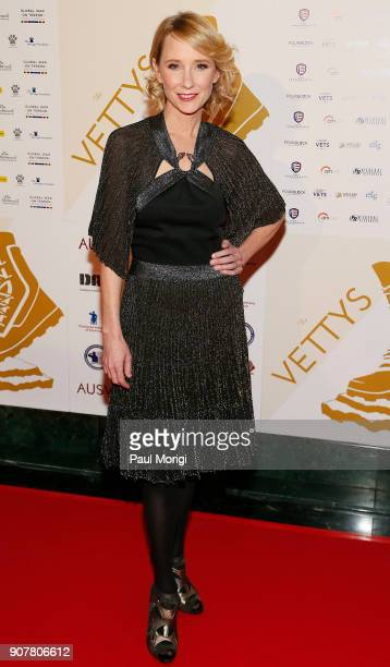 Anne Heche Presenter and Actor arrives at the 3rd Annual Vetty Awards at The Mayflower Hotel on January 20 2018 in Washington DC