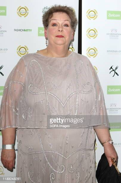 Anne Hegerty arrives at the National Film Awards 2018 at the Porchester Hall