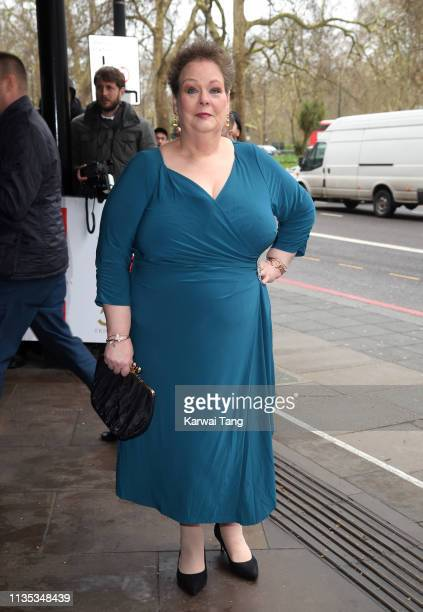 Anne Hegerty attends the 2019 'TRIC Awards' held at The Grosvenor House Hotel on March 12 2019 in London England