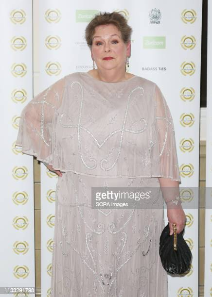 Anne Hegerty attends the National Film Awards 2019 at Porchester Hall in London