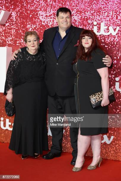 Anne Hegerty Mark Labbett and Jenny Ryan arrive at the ITV Gala held at the London Palladium on November 9 2017 in London England