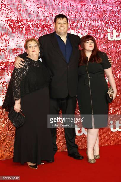 Anne Hegerty Mark Labbett and Jenny Ryan arriving at the ITV Gala held at the London Palladium on November 9 2017 in London England