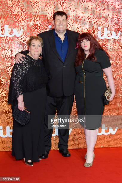 Anne Hegerty Mark Labbett Jenny Ryan arriving at the ITV Gala held at the London Palladium on November 9 2017 in London England