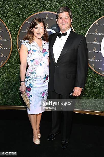 Anne Henry and William Kennedy Smith at the grand reopening party of the iconic Watergate Hotel on June 14 2016 in Washington DC