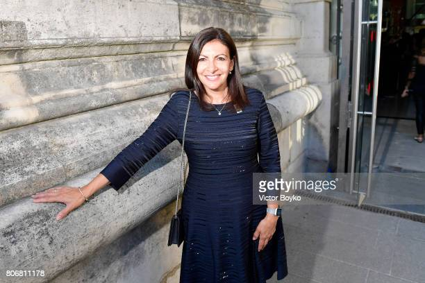 Anne Hidalgo attends 'Christian Dior couturier du reve' Exhibition Launch celebrating 70 years of creation at Loulou Club on July 3 2017 in Paris...