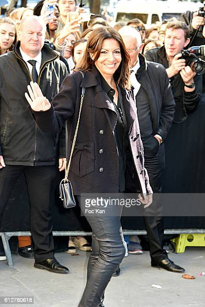 Anne Hidalgo attends the Chanel show as part of the Paris Fashion Week Womenswear Spring/Summer 2017 on October 4 2016 in Paris France