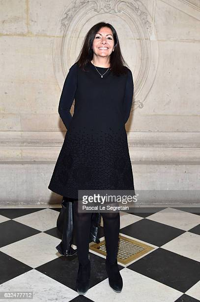 Anne Hidalgo attends the Christian Dior Haute Couture Spring Summer 2017 show as part of Paris Fashion Week on January 23 2017 in Paris France