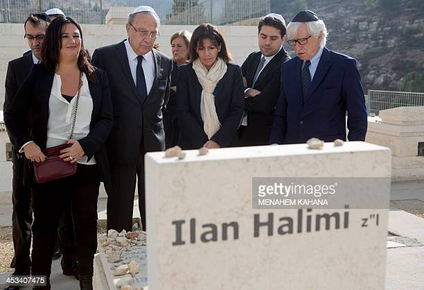 Anne Hidalgo LC Paris deputy mayor and Socialist Party candidate for the primary round of Paris municipal elections visits the grave of Ilan Halimi...