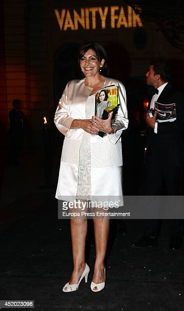 Anne Hidalgo leaves the party Vanity Fair Personality Of The Year on July 10 2014 in Madrid Spain