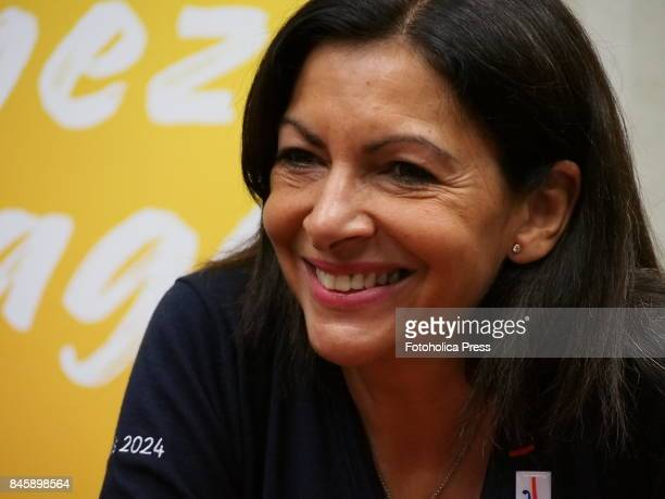 Anne Hidalgo mayor of Paris gives a speech to support the candidacy of that city as the venue for the Olympic Games 2024 at the 130th session of the...