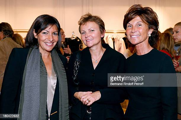Anne Hidalgo Miss Serge Brunschwig and Sylvie Rousseau attend 'Vendanges Montaigne 2013' At Dior Avenue Montaigne on September 12 2013 in Paris France