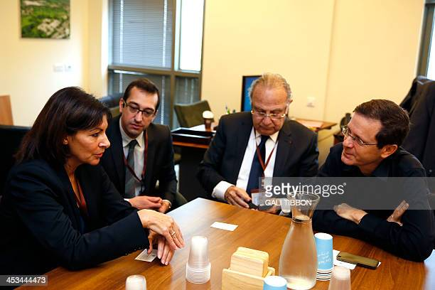 Anne Hidalgo Paris deputy mayor and Socialist Party candidate for the primary round of Paris municipal elections meets with Israeli opposition leader...