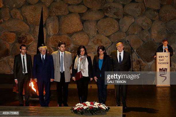 Anne Hidalgo Paris deputy mayor and Socialist Party candidate for the primary round of Paris municipal elections lays a wreath at the Hall of...
