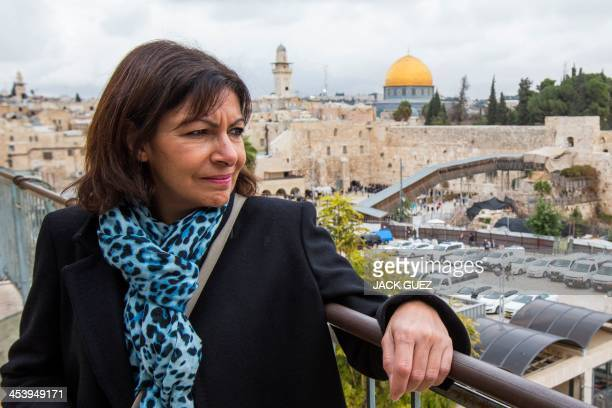 Anne Hidalgo Paris deputy mayor and Socialist Party candidate for the primary round of Paris municipal elections poses during her visit in the...