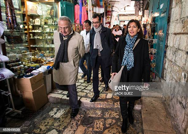 Anne Hidalgo Paris deputy mayor and Socialist Party candidate for the primary round of Paris municipal elections and the mayor of the 3rd district of...