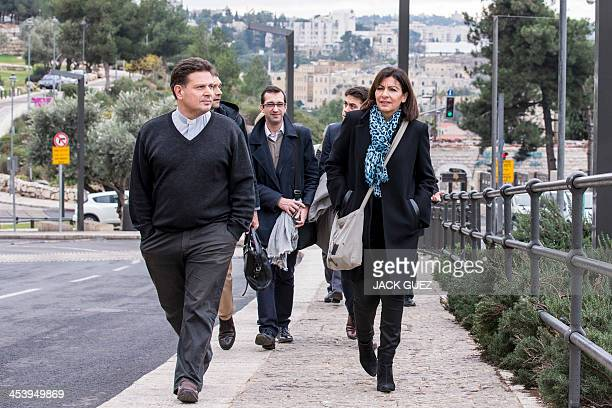 Anne Hidalgo Paris deputy mayor and Socialist Party candidate for the primary round of Paris municipal elections visits Jerusalem's Old City on...