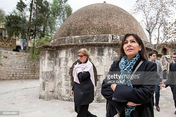 Anne Hidalgo Paris deputy mayor and Socialist Party candidate for the primary round of Paris municipal elections visits the Church of the Holy...