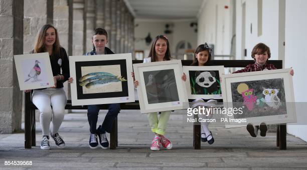 Anne Holohan Stephen O'Conner Maia McCann Alexia Angelova and Bailey Jones from the Art Academy in Rush all won awards at the 60th Texaco Children's...