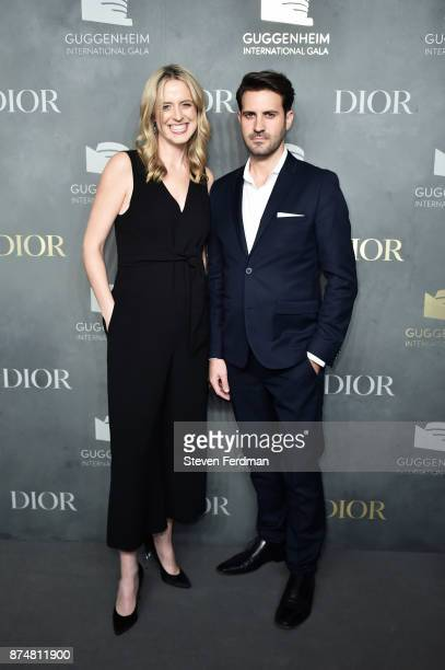 Anne Huntington and a guest attend the 2017 Guggenheim International Gala PreParty made possible by Dior on November 15 2017 in New York City