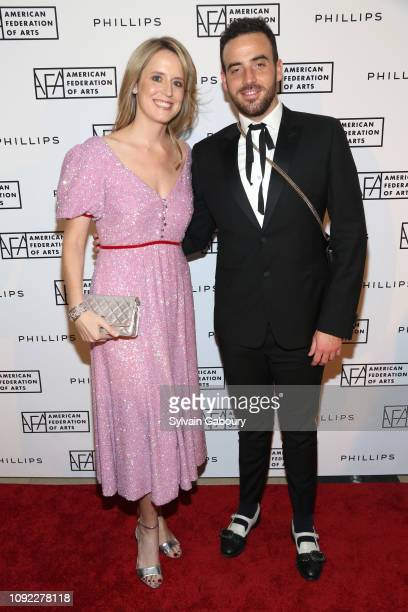 Anne Huntington and Logan Horne attend American Federation Of Arts 2018 Gala at Guastavino's on November 8 2018 in New York City