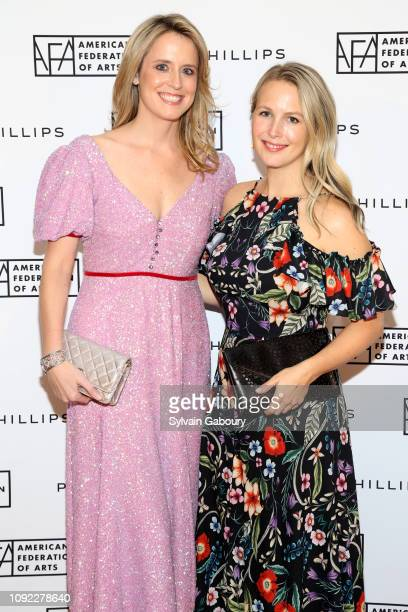 Anne Huntington and Sophie Elgort attend American Federation Of Arts 2018 Gala at Guastavino's on November 8 2018 in New York City