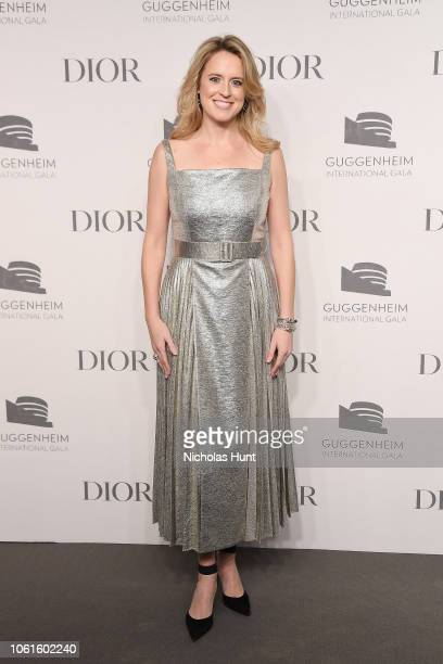 Anne Huntington attends the 2018 Guggenheim International Gala PreParty made possible by Dior at Solomon R Guggenheim Museum on November 14 2018 in...