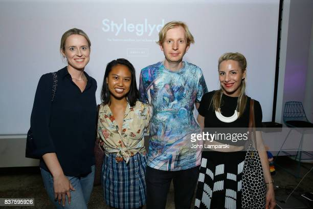 Anne Huntington Christine Banawa Valentine Uhozki and Susi Kenna attend StyleGlyde App launch at Tumblr HQ on August 22 2017 in New York City