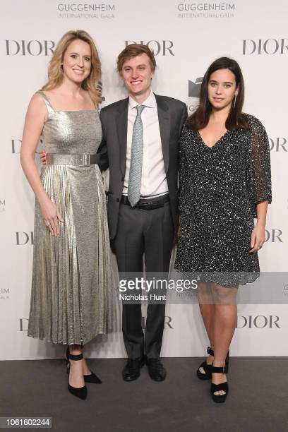 Anne Huntington Danny Mapes and Tiffany Zabludowicz attend the 2018 Guggenheim International Gala PreParty made possible by Dior at Solomon R...