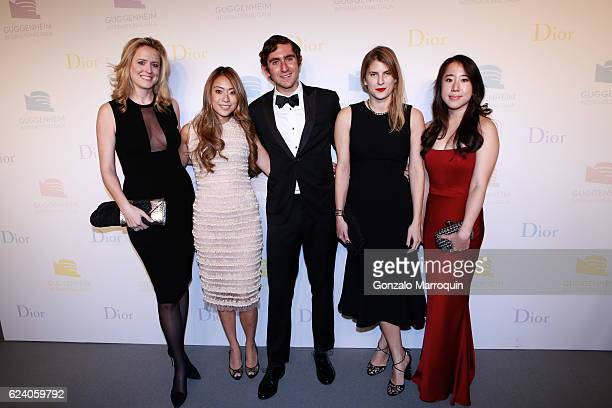 Anne HuntingtonJennifer TyJosh ElksAlexandra Economou and Jade Ong at the 2016 Guggenheim International Gala at Solomon R Guggenheim Museum on...