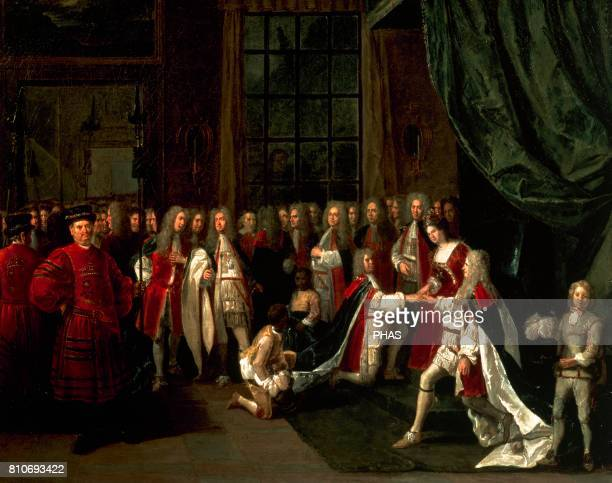 Anne I of Great Britain and Ireland The Queen Anne and the knights of the Garter by Peter Angelis National Portrait Gallery London England