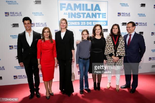 Anne Igartiburu and Alberto San Juan Llorente attend the 'Familia al Instante' premiere at Capitol Cinema on January 23 2019 in Madrid Spain