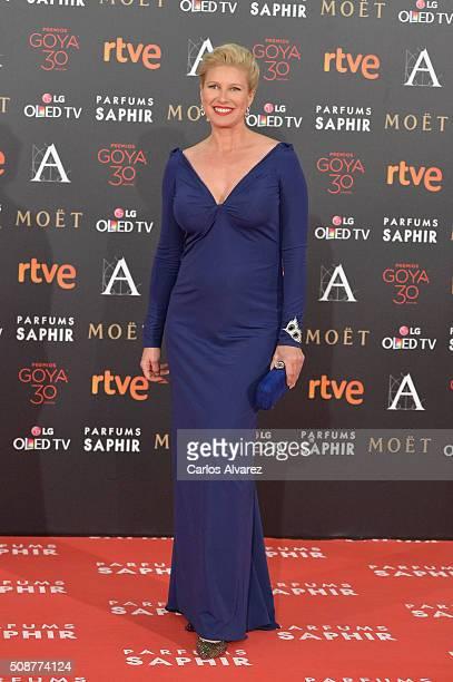 Anne Igartiburu attends Goya Cinema Awards 2016 at Madrid Marriott Auditorium on February 6 2016 in Madrid Spain