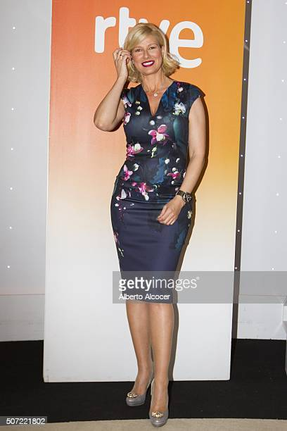 Anne Igartiburu attends press conference of Spanish Candidates to Eurovision on January 28 2016 in Madrid Spain